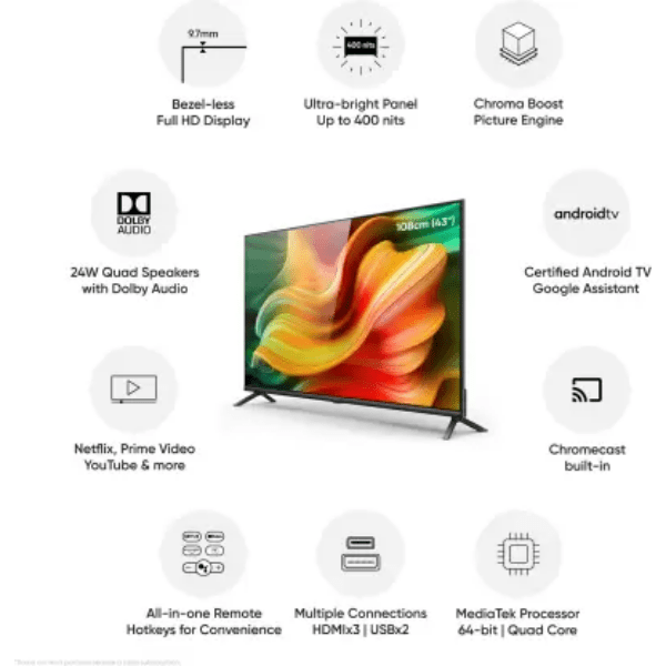 realme(43 inch) Full HD Smart Android TV (TV 43)