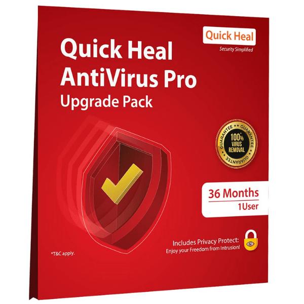 Quick Heal Antivirus Pro- Upgrade/Renewal Pack